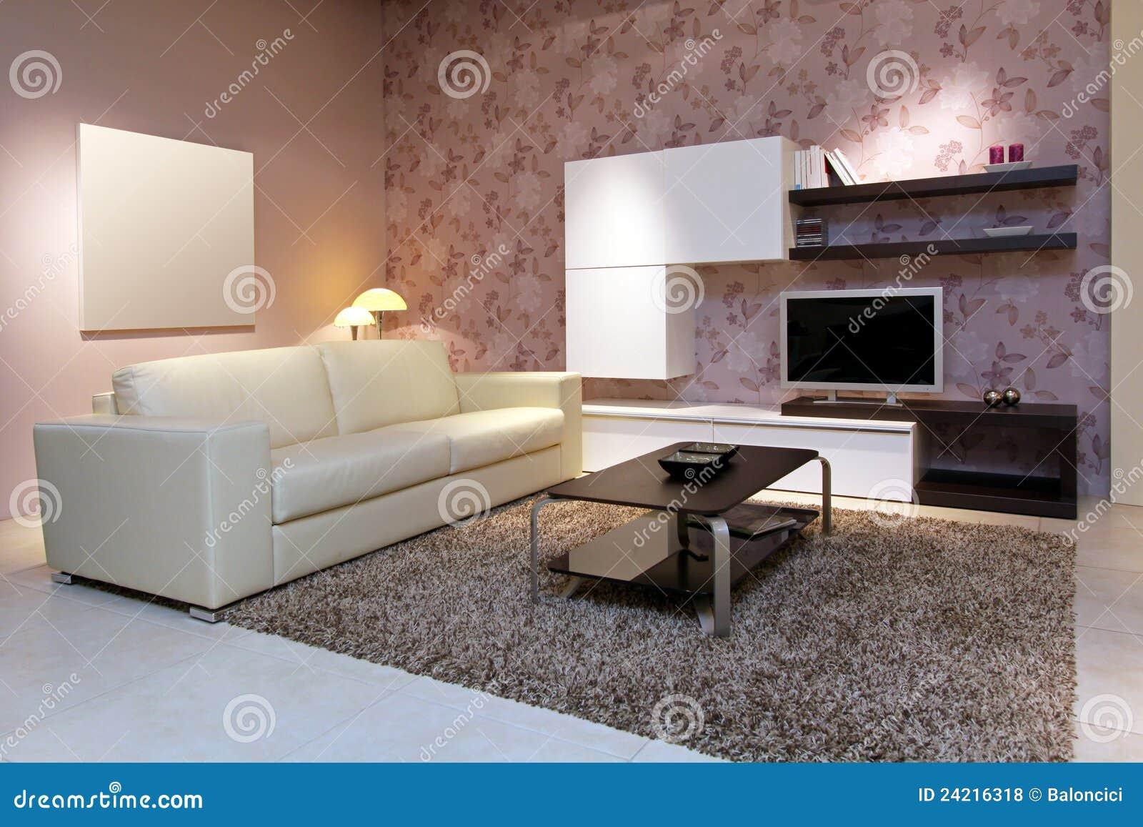 Roze woonkamer stock foto afbeelding bestaande uit meubilair 24216318 for Deco woonkamer moderne woonkamer