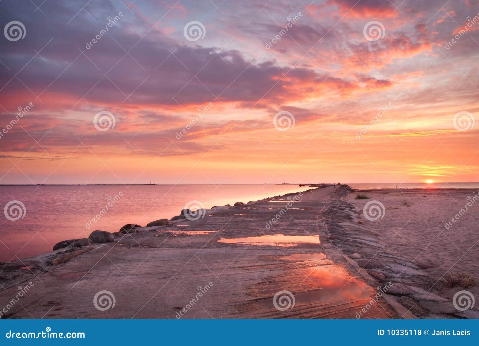 Roze zonsondergang