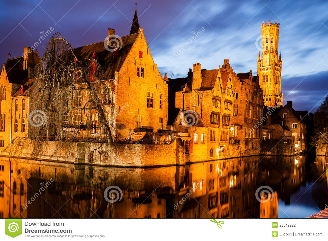 download rozenhoedkaai and belfry in bruge stock photo image of flanders canal