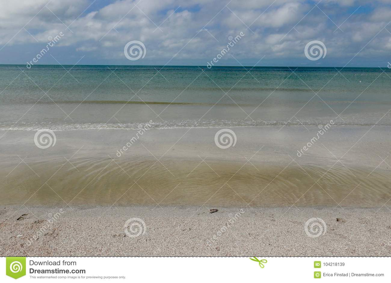 Rozjaśnia przy St Pete plażą, turkus woda, Floryda, usa
