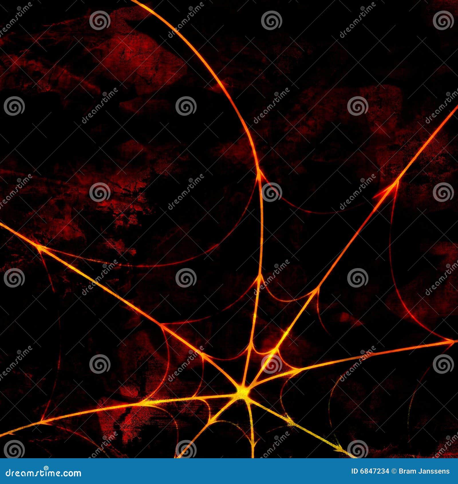 Rozjarzona pająk sieć