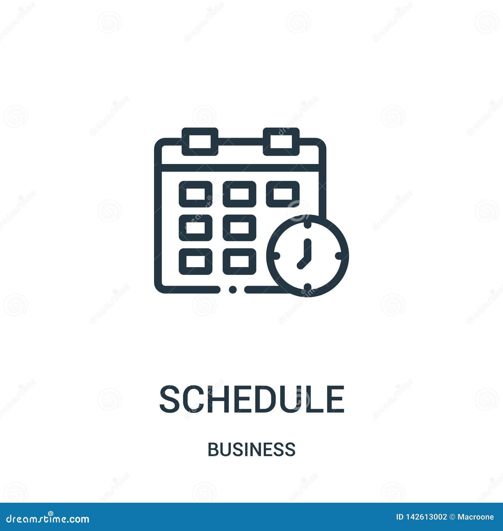 Rozkład ikony wektor od biznesowej kolekcji Cienka kreskowa rozk?adu konturu ikony wektoru ilustracja Liniowy symbol