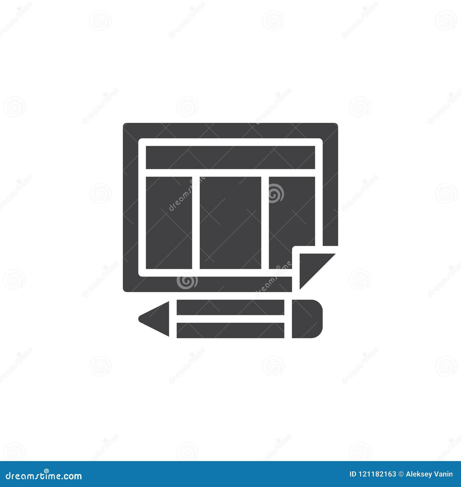 Rozkład kalendarzowa i ołówkowa wektorowa ikona