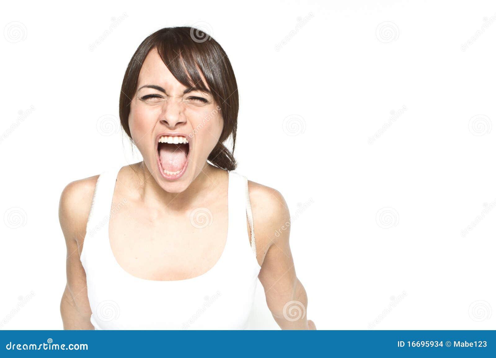 Rozkrzyczana kobieta