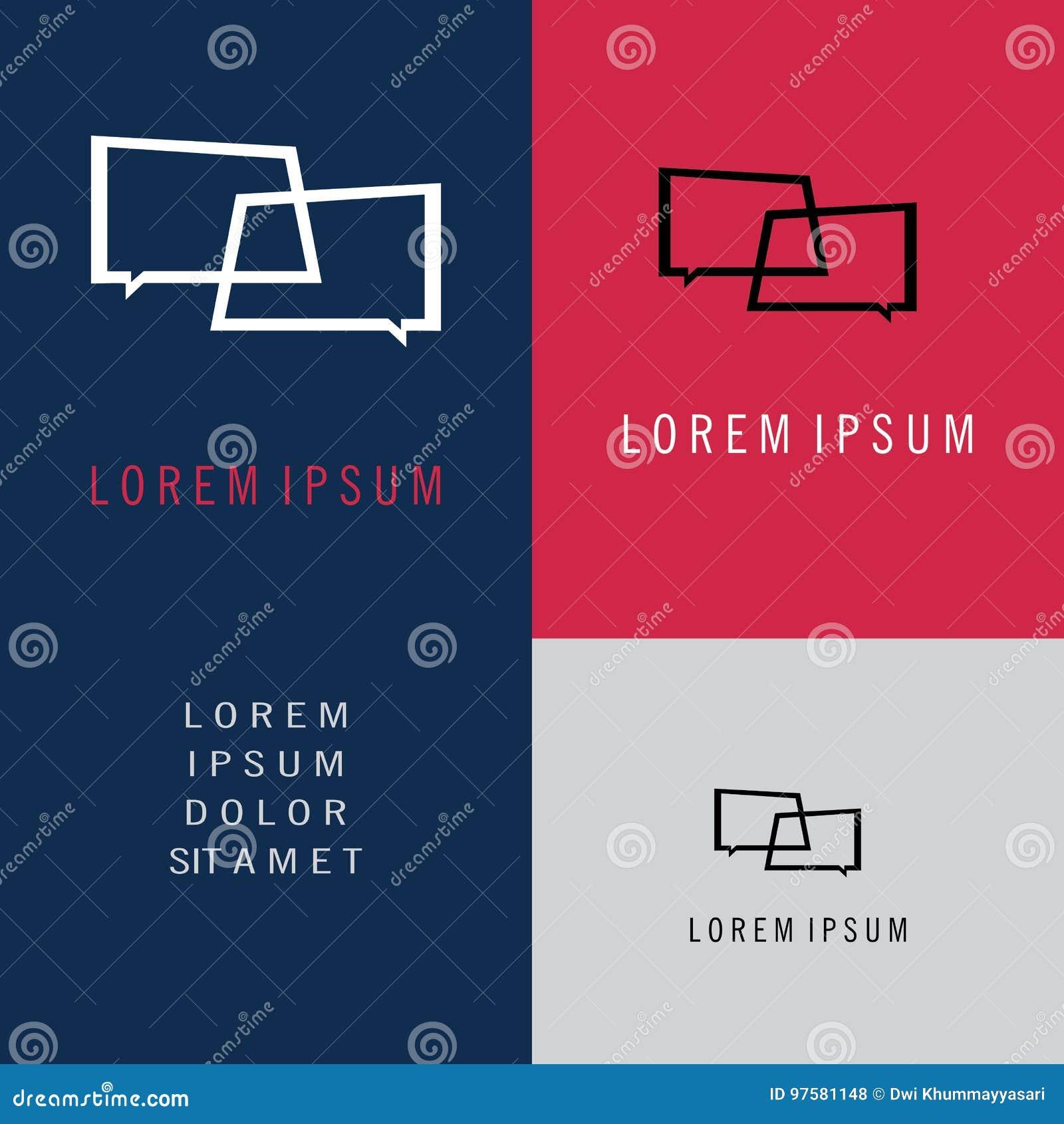 Rozmowa loga symbol