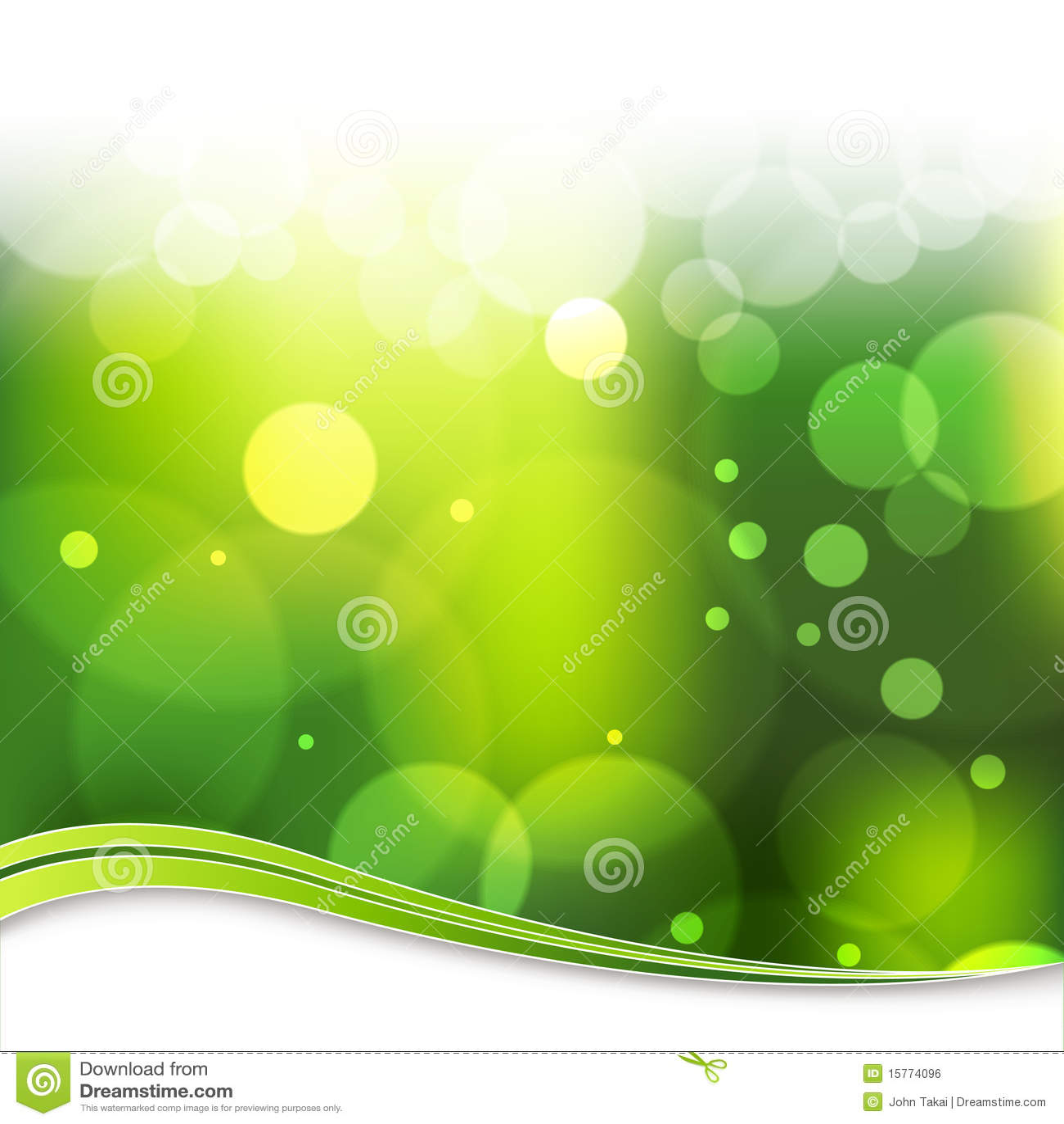 Rozmyty tła zielone światło