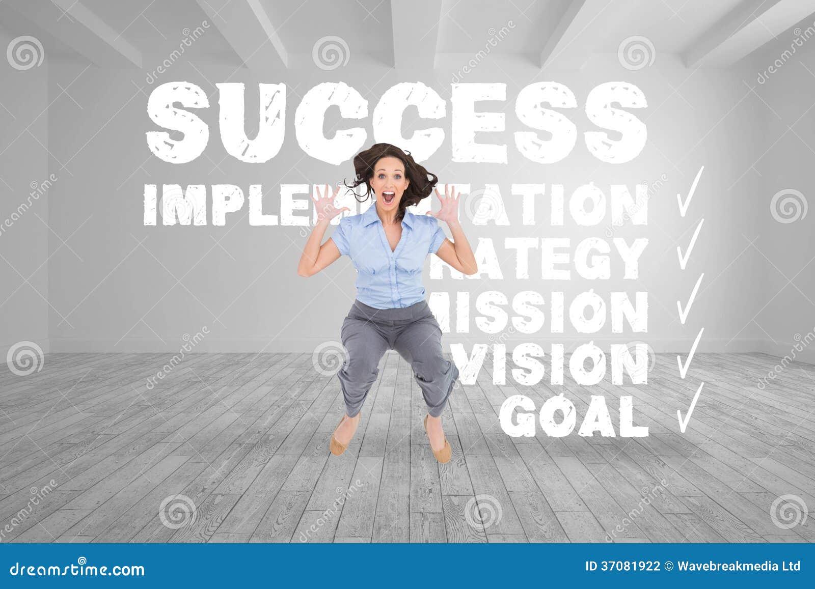 Download Rozochocony Z Klasą Bizneswoman Ma Zabawę Zdjęcie Stock - Obraz złożonej z sukces, digitise: 37081922