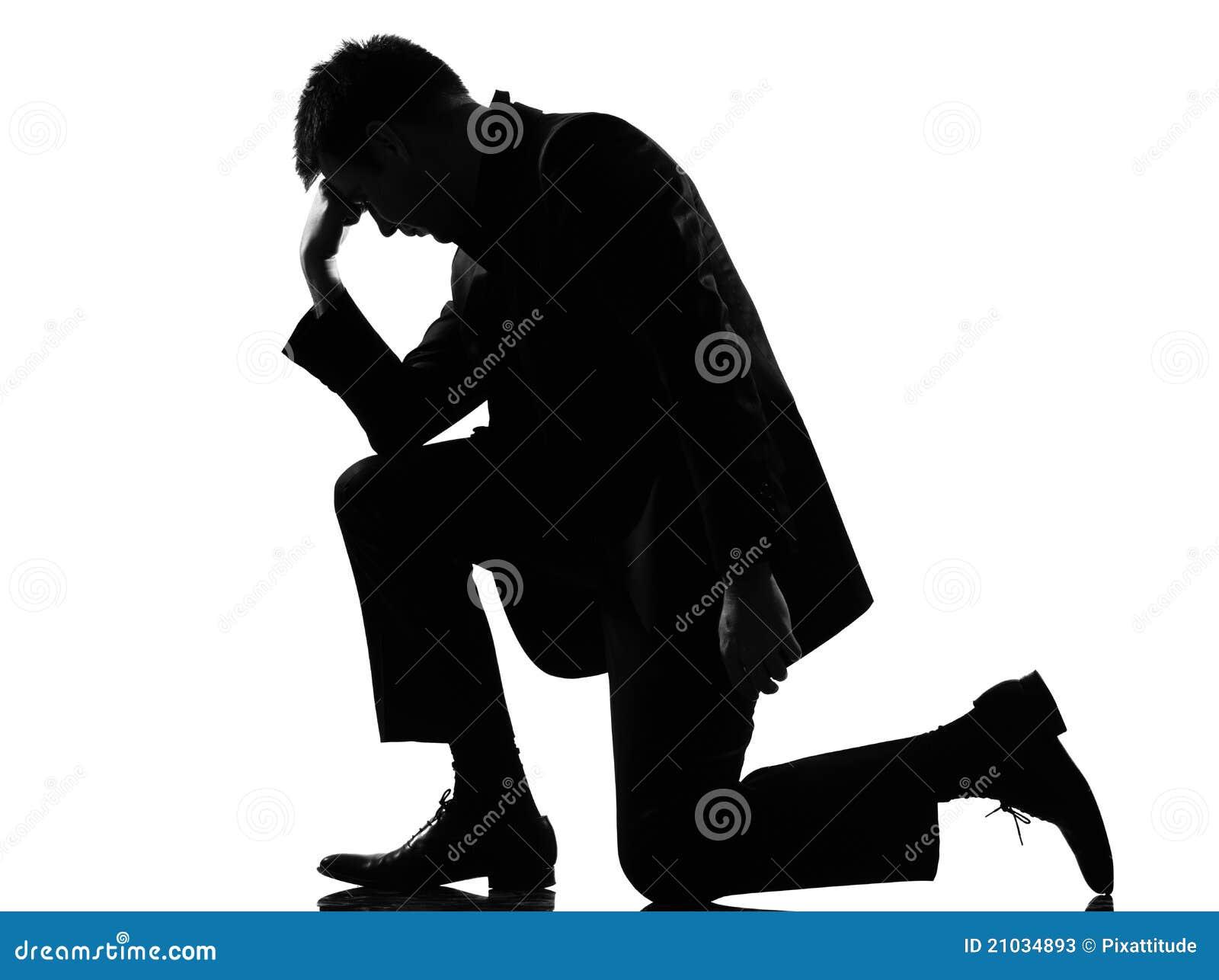 Rozpacza zmęczenia mężczyzna sylwetka męcząca