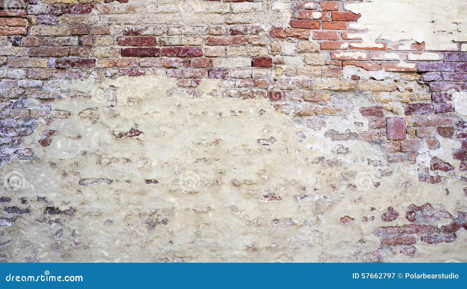 Rozpadowa ściana mieszająca z ceglany horyzontalnym