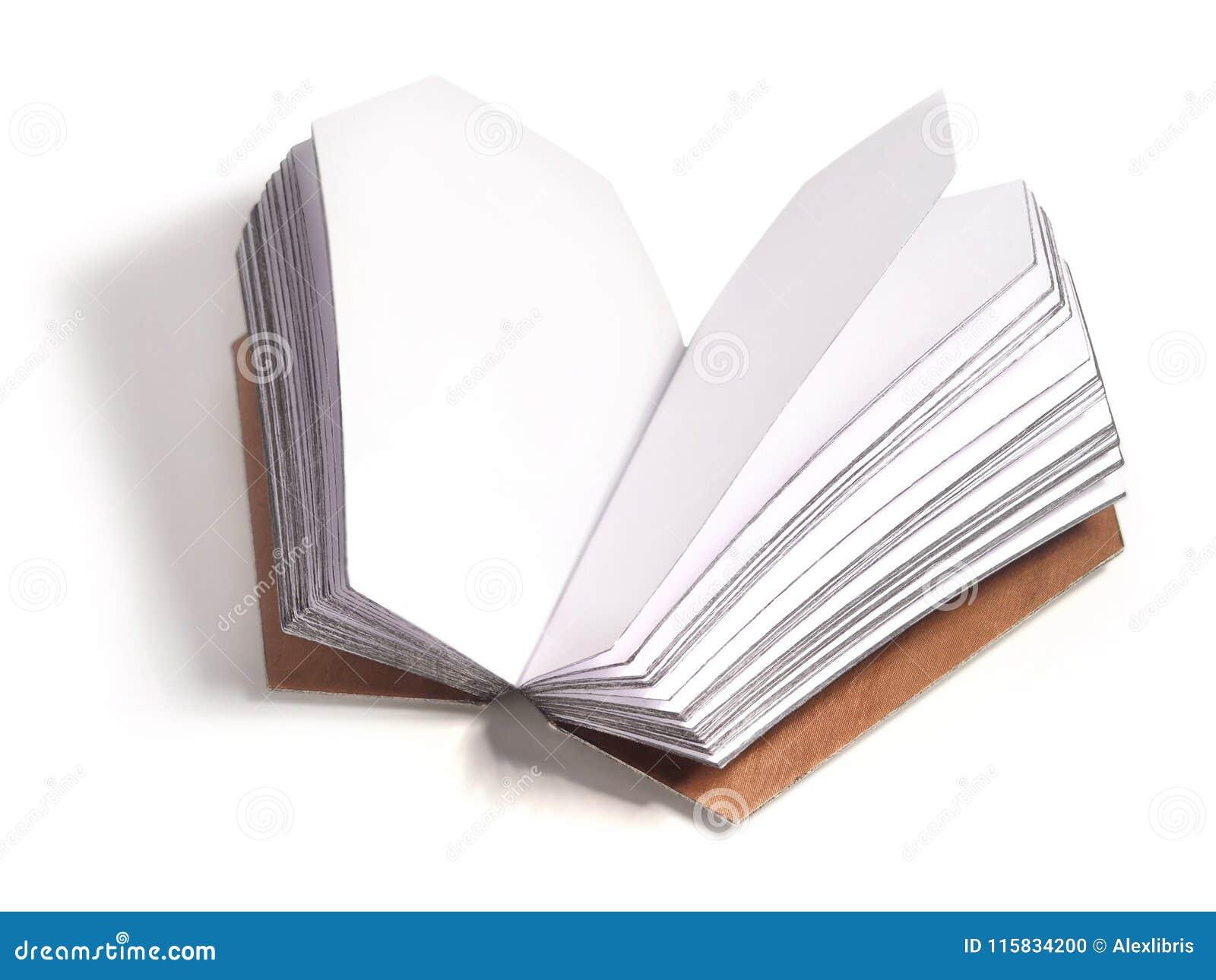 Rozpieczętowana książka z stronami w trumiennym kształcie