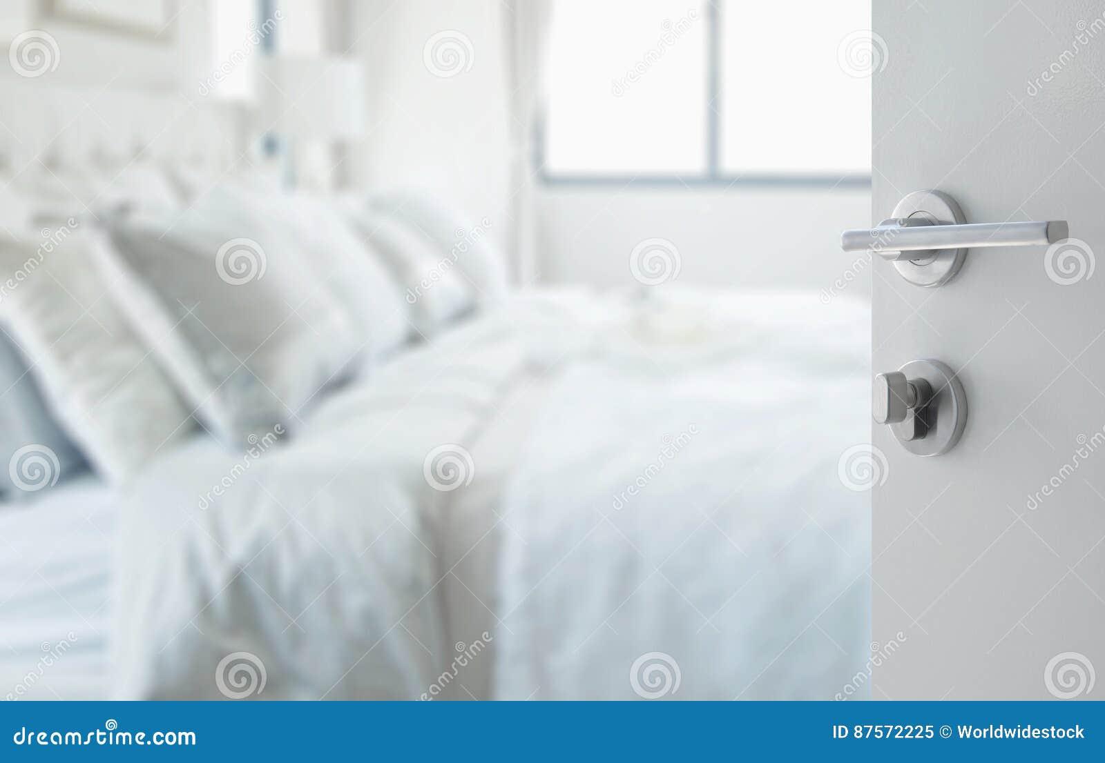 Rozpieczętowany Biały Drzwi Abstrakcjonistyczny Tło