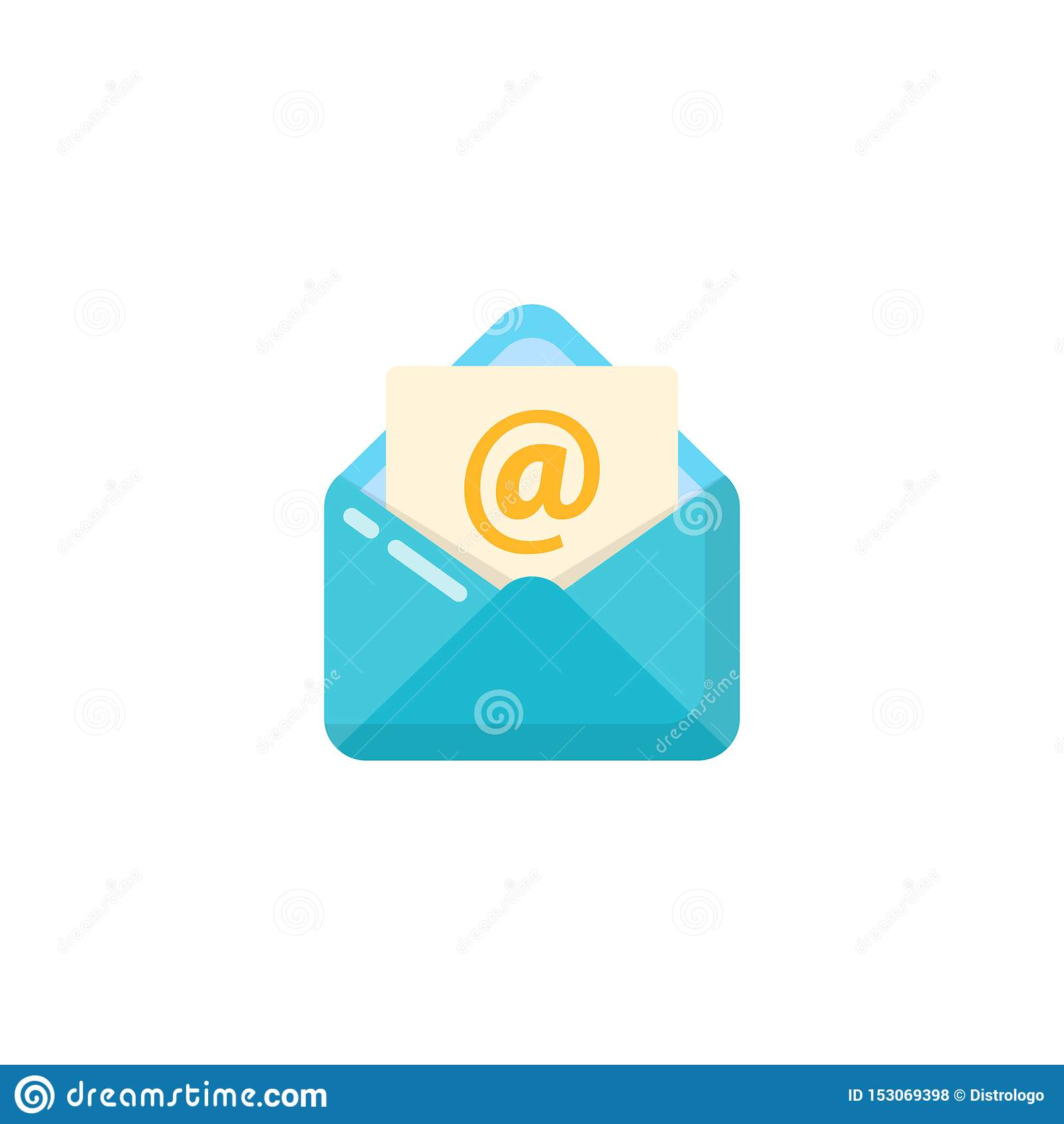Rozpieczętowany koperty i dokumentu ikony wektorowy projekt rozpieczętowany poczty ikony projekt