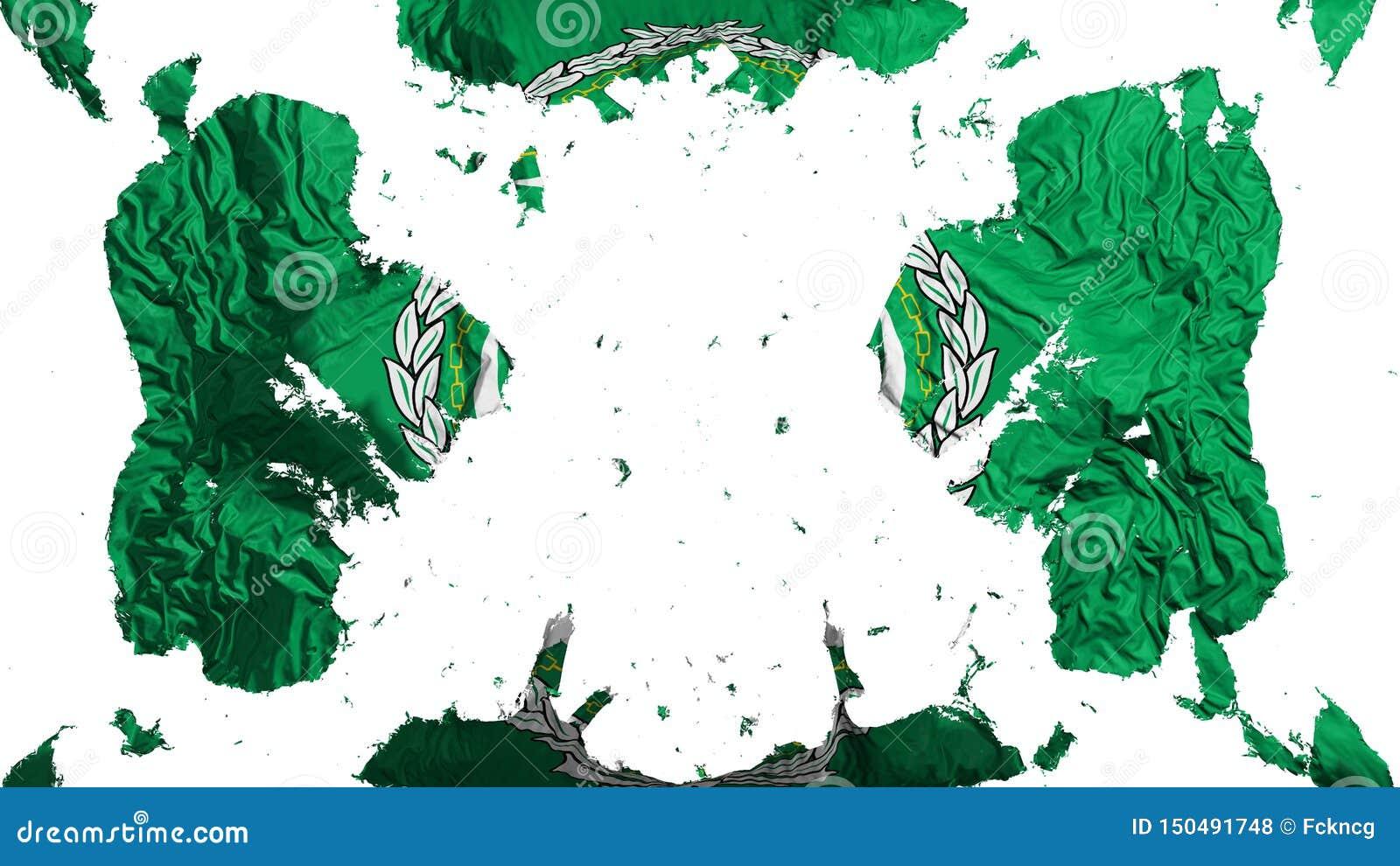 Rozrzucona Arabskiego ligi flaga