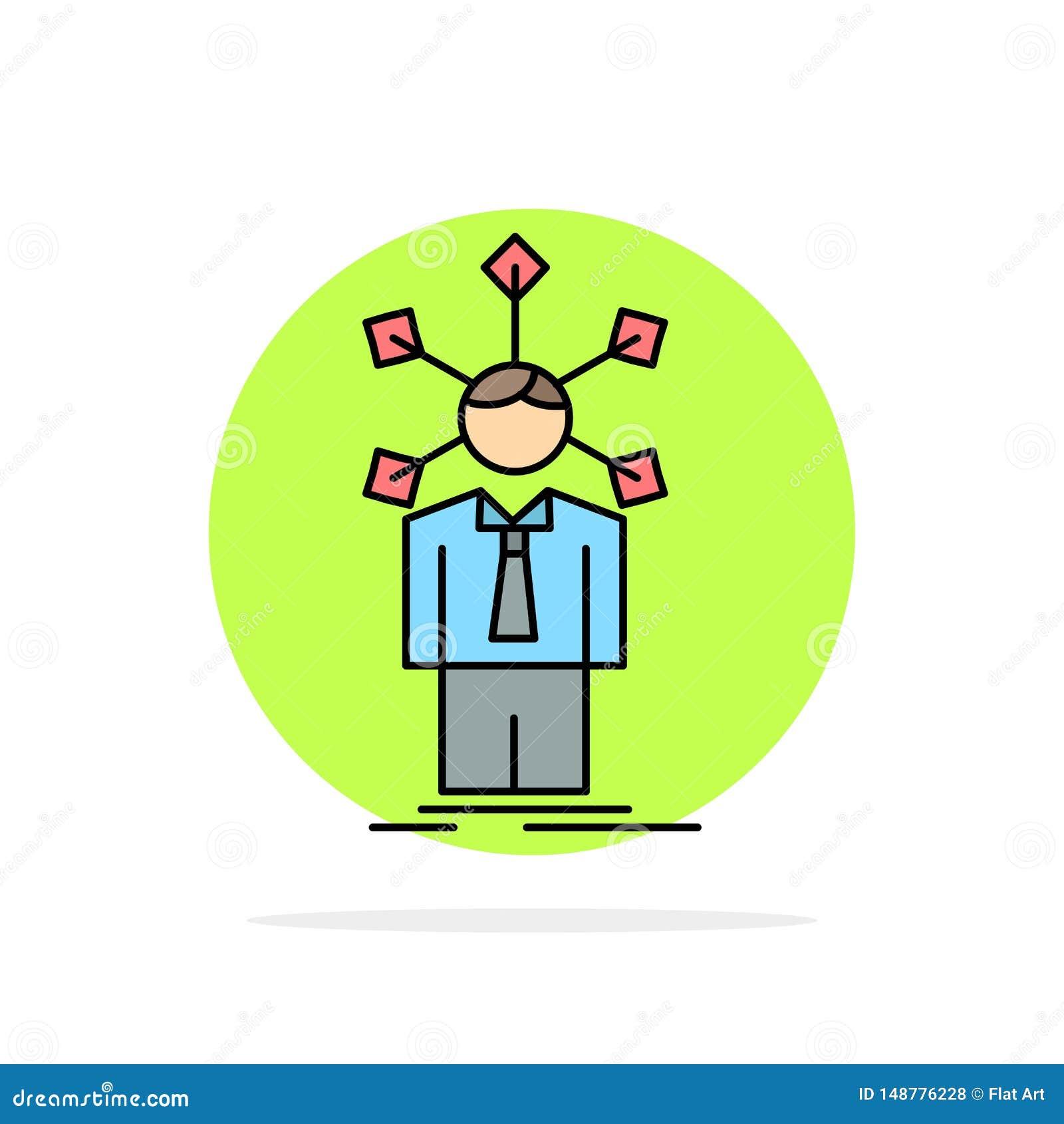 Rozwój, istota ludzka, sieć, osobowość, jaźń koloru ikony Płaski wektor