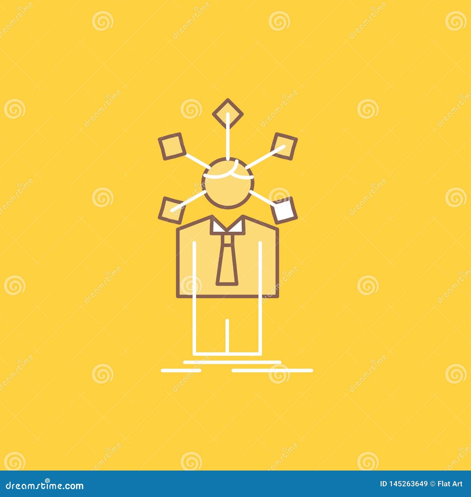 Rozwój, istota ludzka, sieć, osobowość, jaźni mieszkania linia Wypełniał ikonę Pi?kny logo guzik nad ?