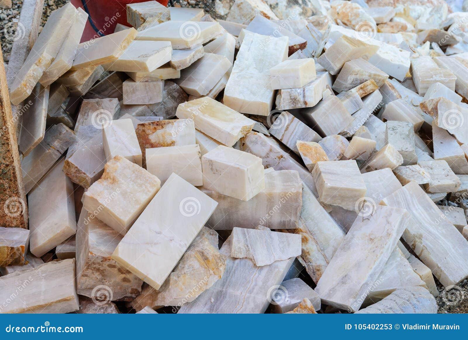 Rozwój kamienna onyks skała, uprawiający materiał