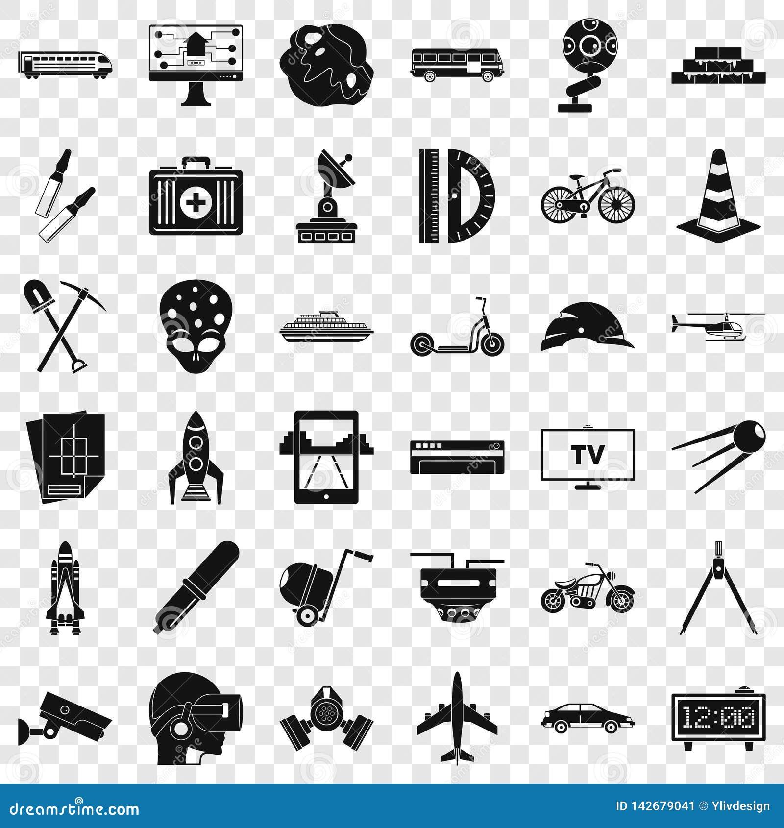 Rozwój w toku ikony ustawiać, prosty styl