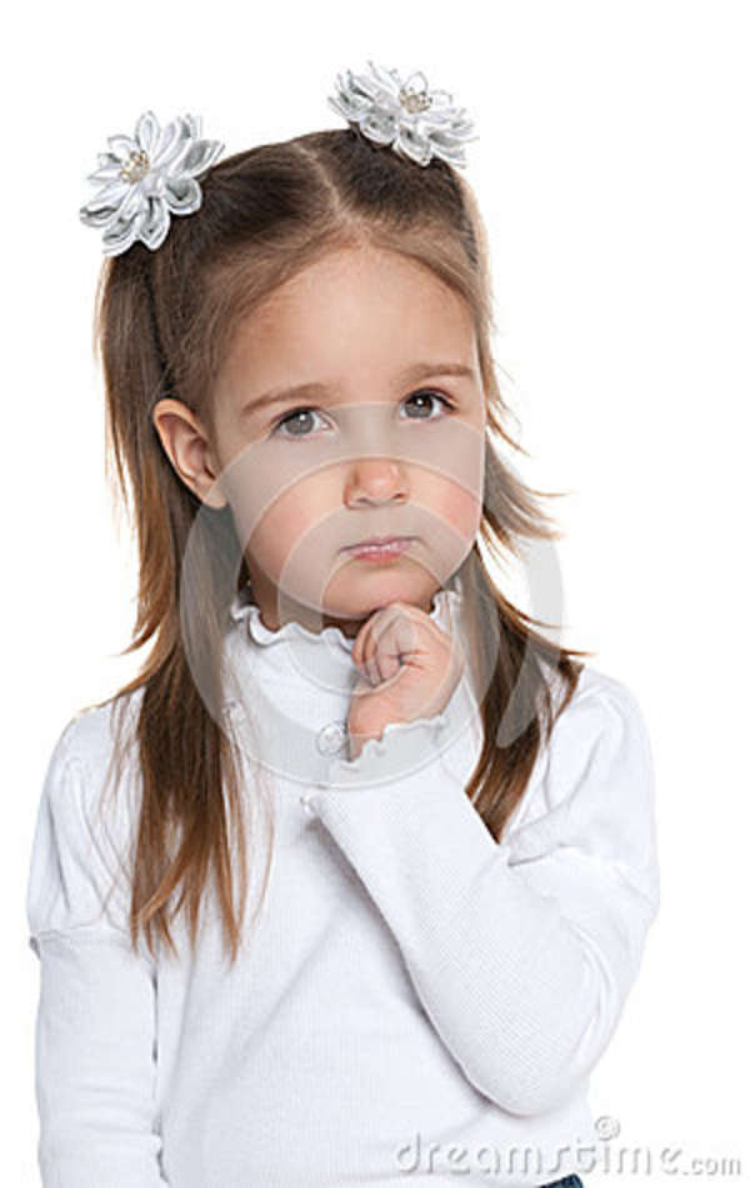 Rozważna mądra preschool dziewczyna