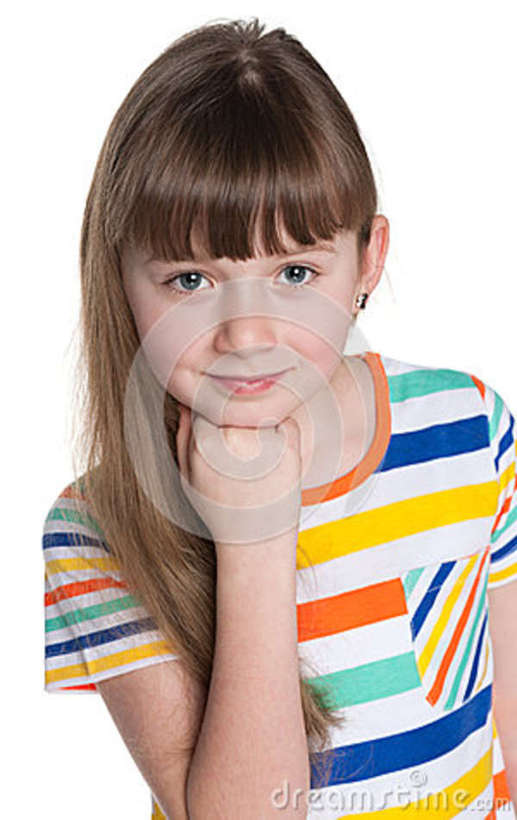 Rozważna urocza mała dziewczynka