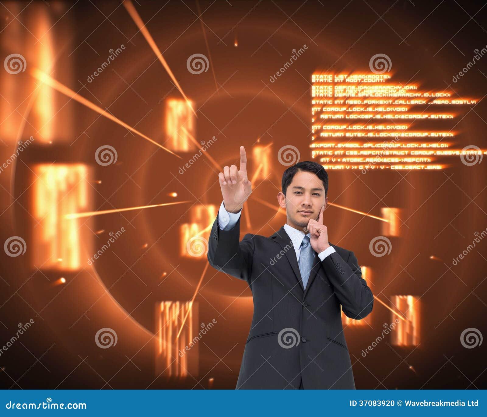 Download Rozważny Azjatykci Biznesmena Wskazywać Zdjęcie Stock - Obraz złożonej z biznesmen, gwiazdy: 37083920