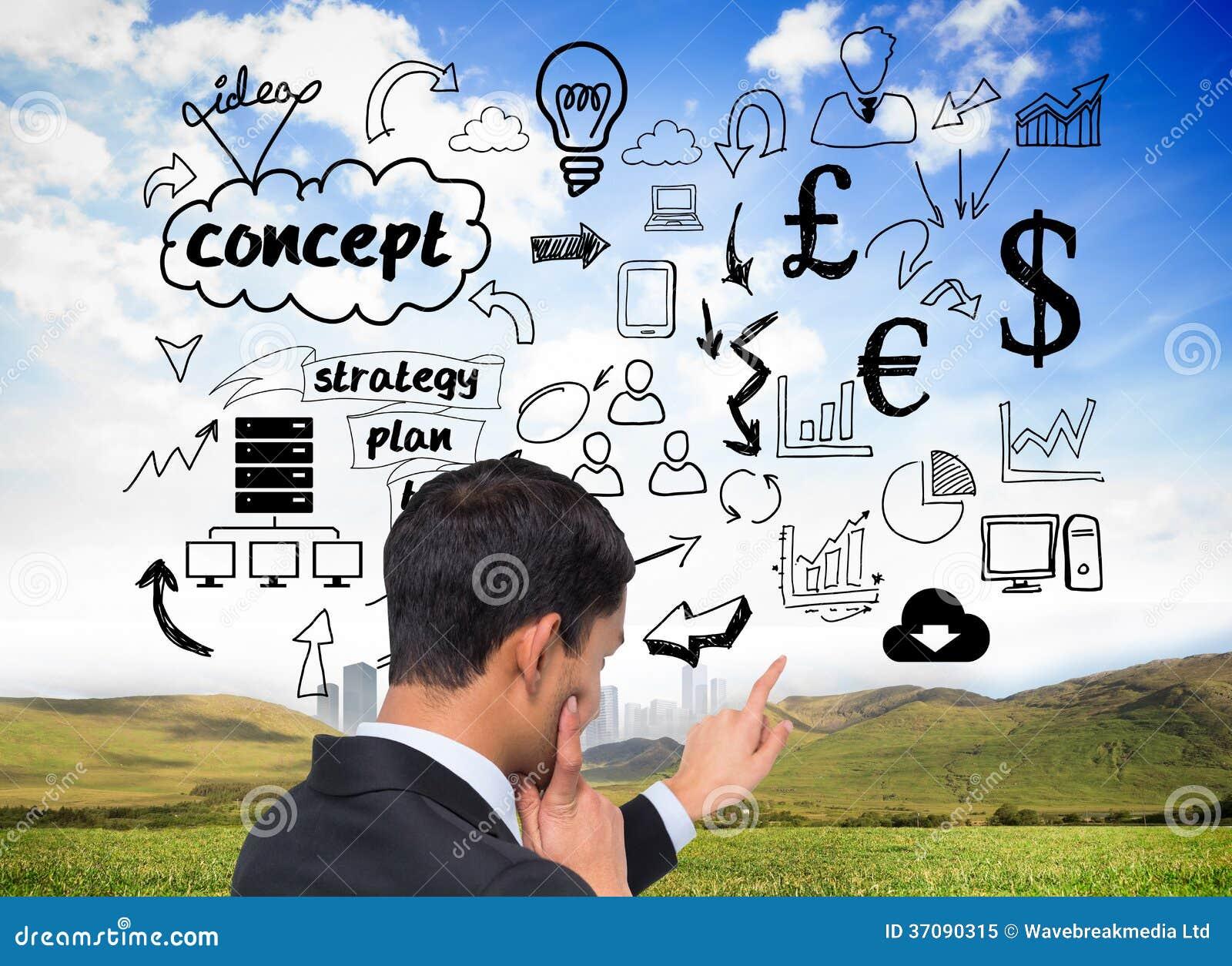Download Rozważny Azjatykci Biznesmena Wskazywać Obraz Stock - Obraz złożonej z dochodowość, digitalis: 37090315