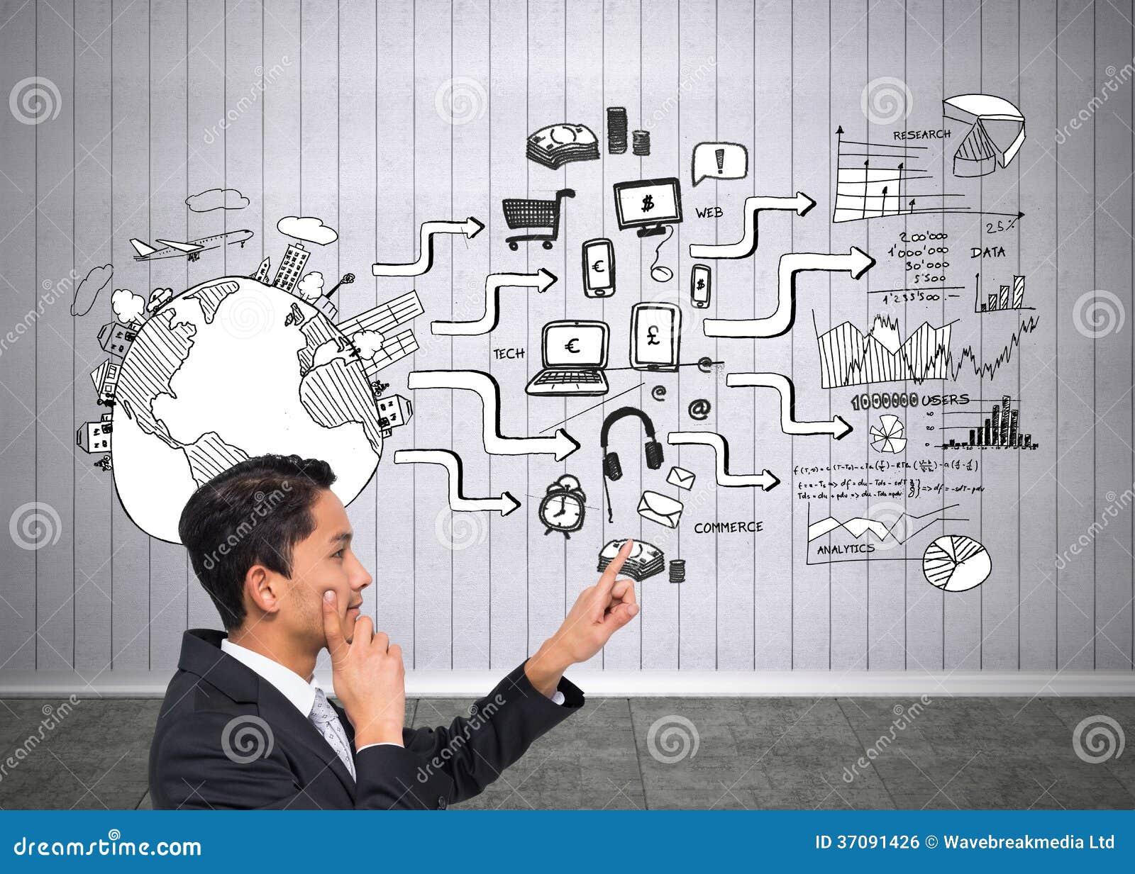Download Rozważny Azjatykci Biznesmena Wskazywać Zdjęcie Stock - Obraz złożonej z osoba, wallah: 37091426