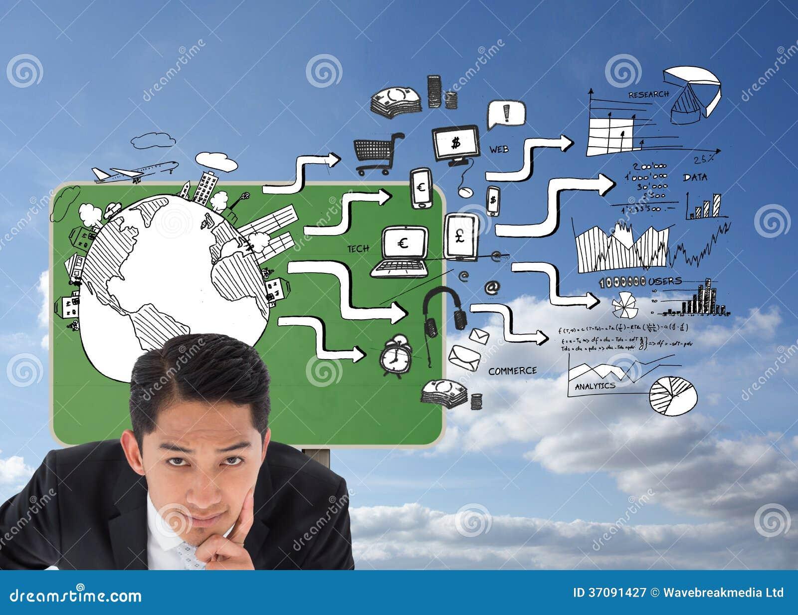 Download Rozważny Azjatykci Biznesmena Wskazywać Obraz Stock - Obraz złożonej z mężczyzna, pastylka: 37091427