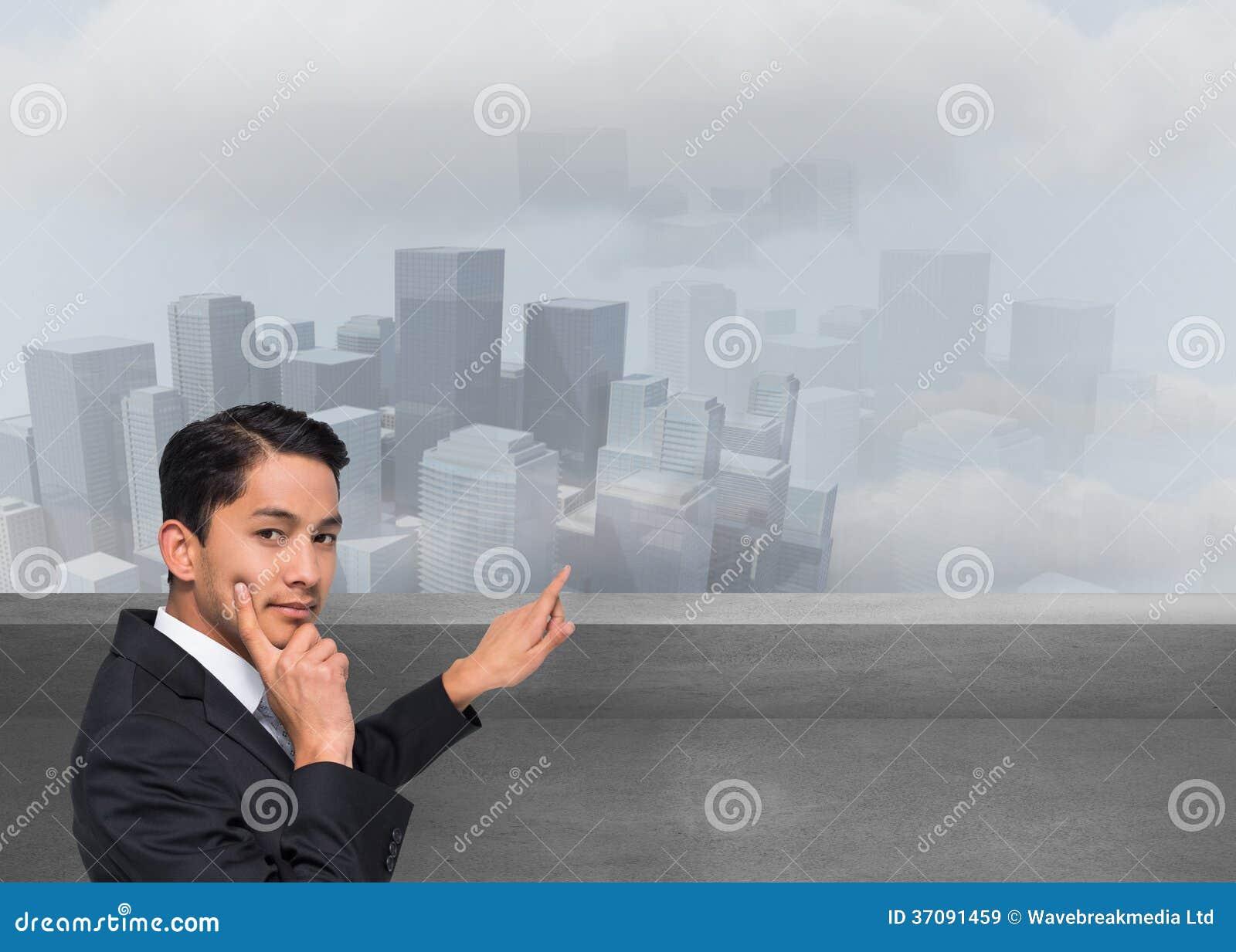 Download Rozważny Azjatykci Biznesmena Wskazywać Obraz Stock - Obraz złożonej z ubierający, digitise: 37091459