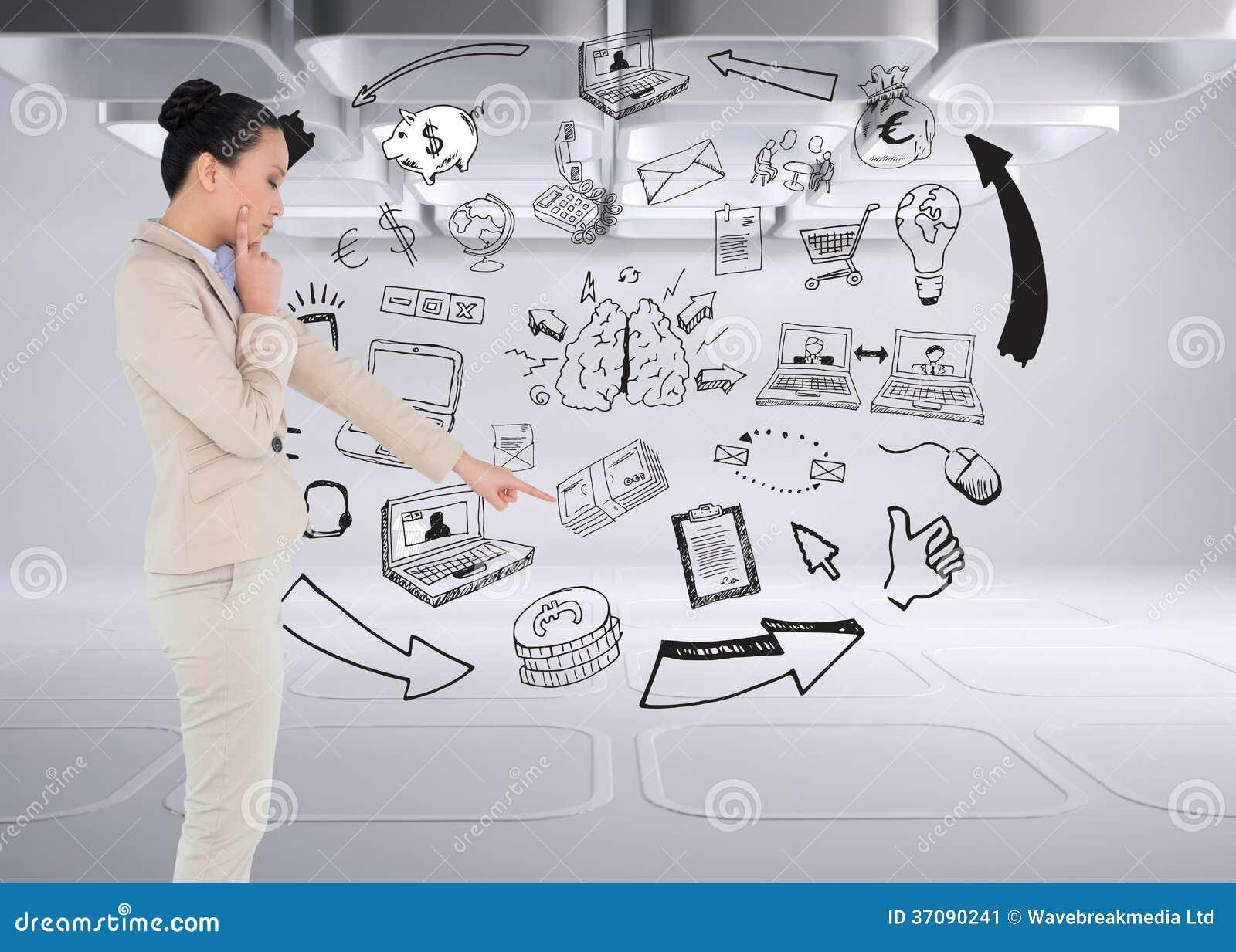 Download Rozważny Azjatykci Bizneswomanu Wskazywać Obraz Stock - Obraz złożonej z kobiety, cykl: 37090241