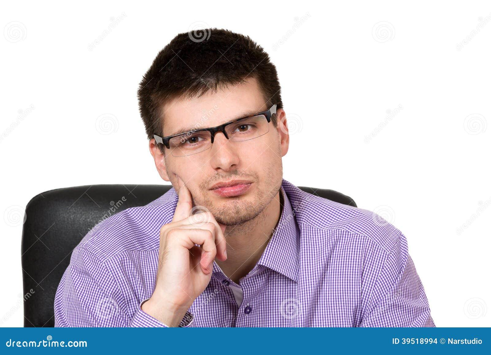 Rozważny biznesmena portret