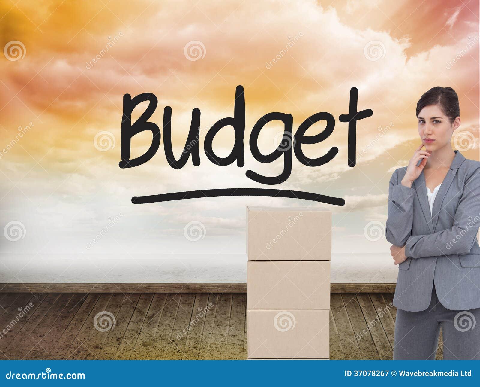 Download Rozważny Bizneswoman Pozuje Z Kartonami Obraz Stock - Obraz złożonej z ubierający, chmurny: 37078267