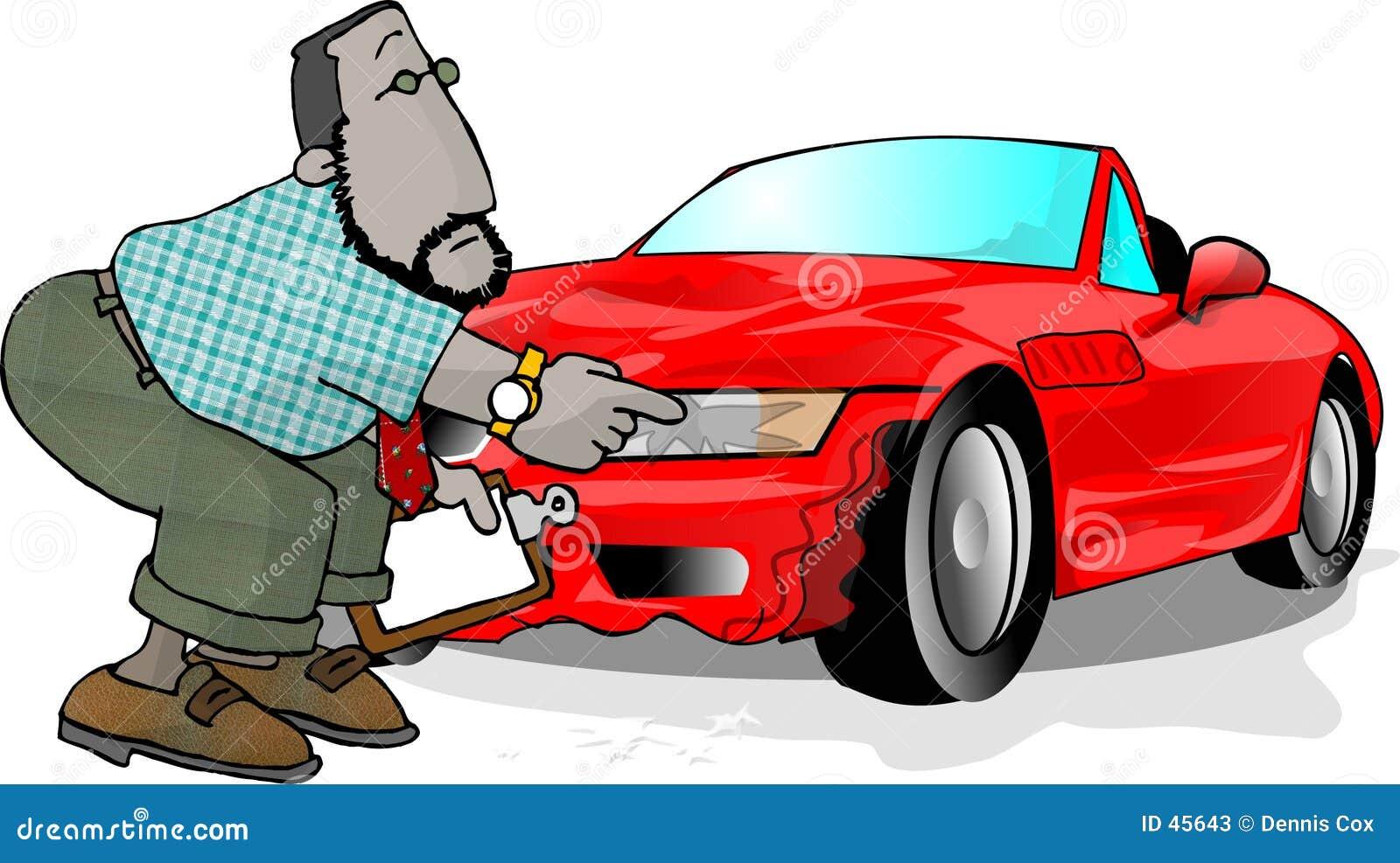 Rozwalony samochód