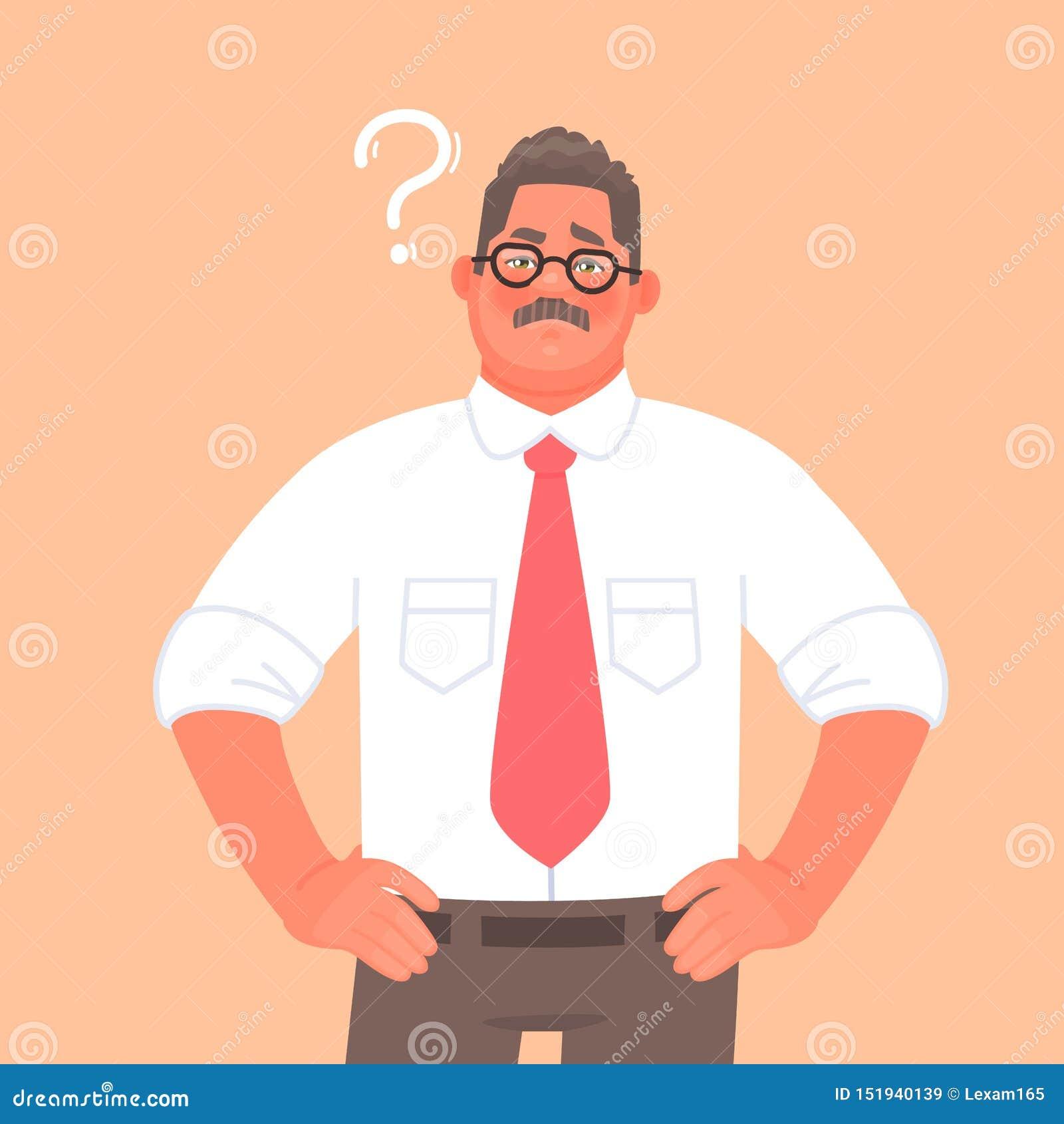 Rozwiązanie wybór lub problem Przedsiębiorca lub biznesmen myśleć oceny pytanie