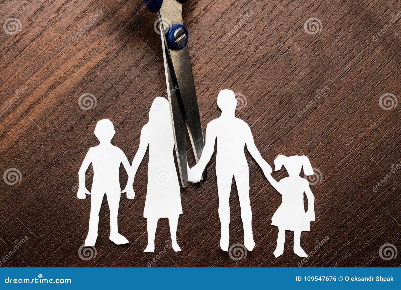 Rozwodu i dziecka areszta nożyce ciie rodzinny w oddaleniu