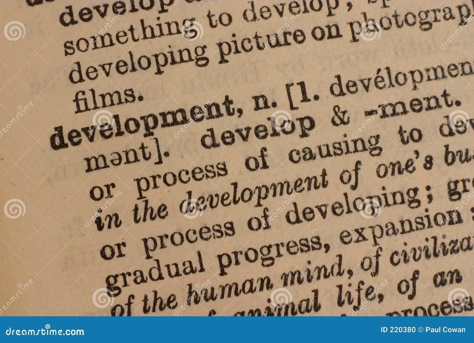Rozwoju biznesu słowo
