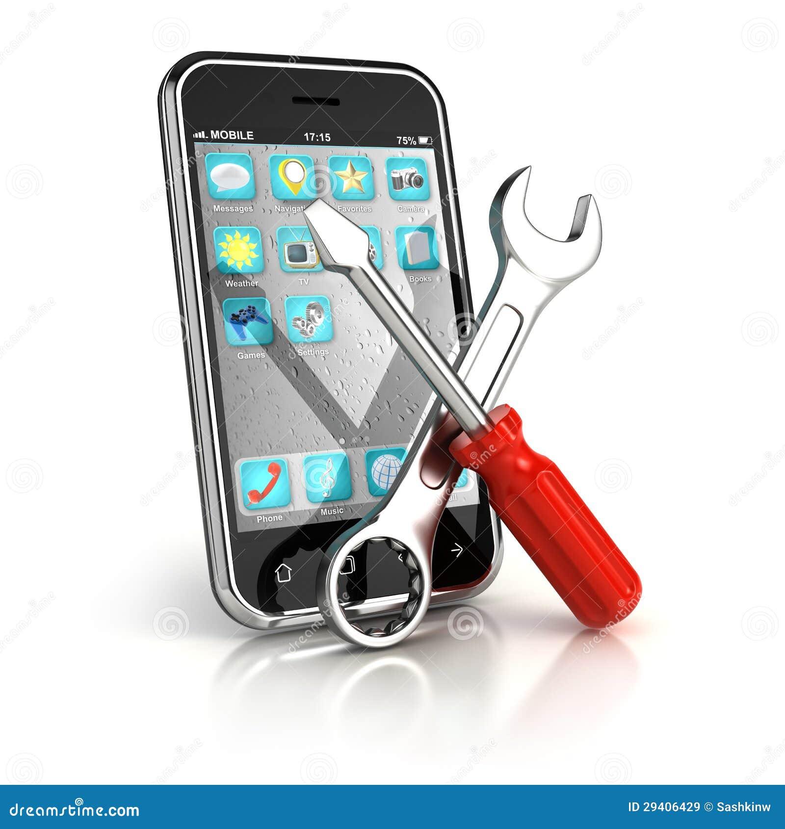 r paration de smartphone images libres de droits image 29406429. Black Bedroom Furniture Sets. Home Design Ideas