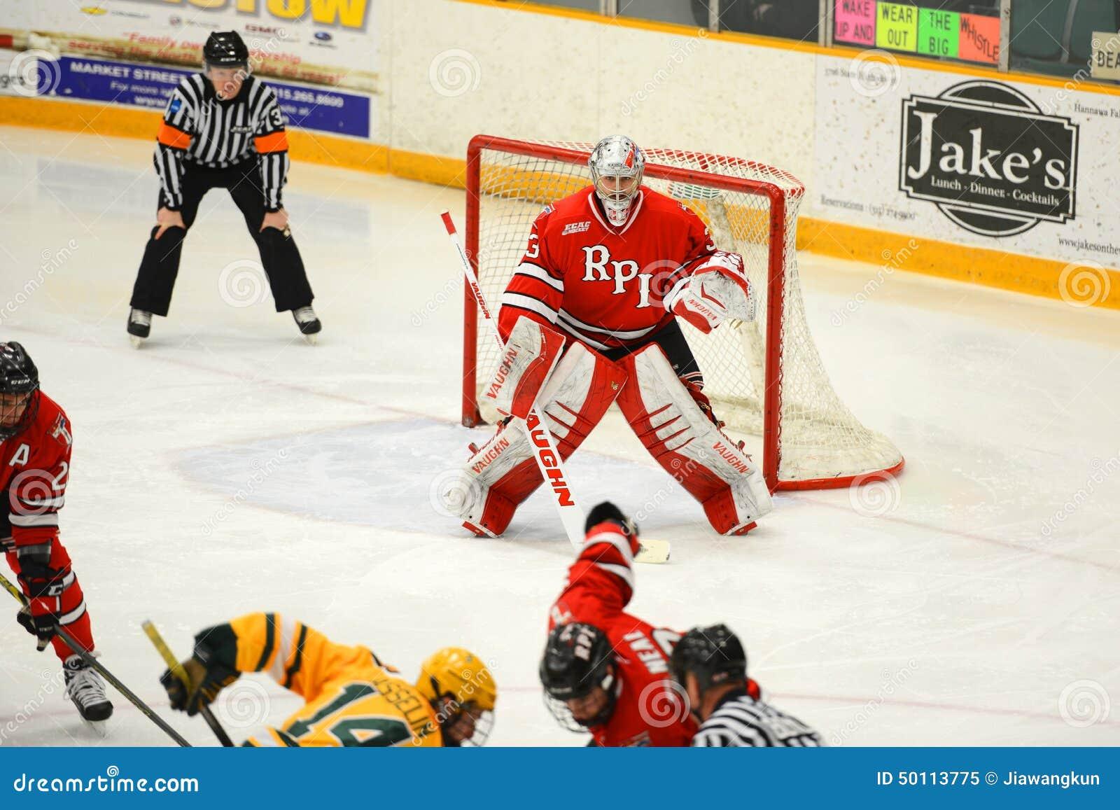 RPI Goalie #33 i NCAA-hockeylek