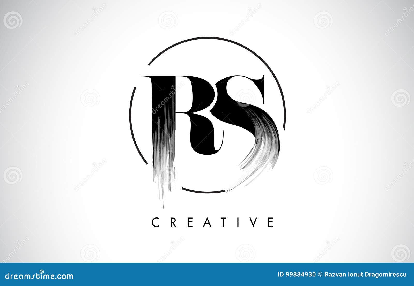 Rs brush stroke letter logo design black paint logo leters icon rs brush stroke letter logo design black paint logo leters icon buycottarizona Image collections