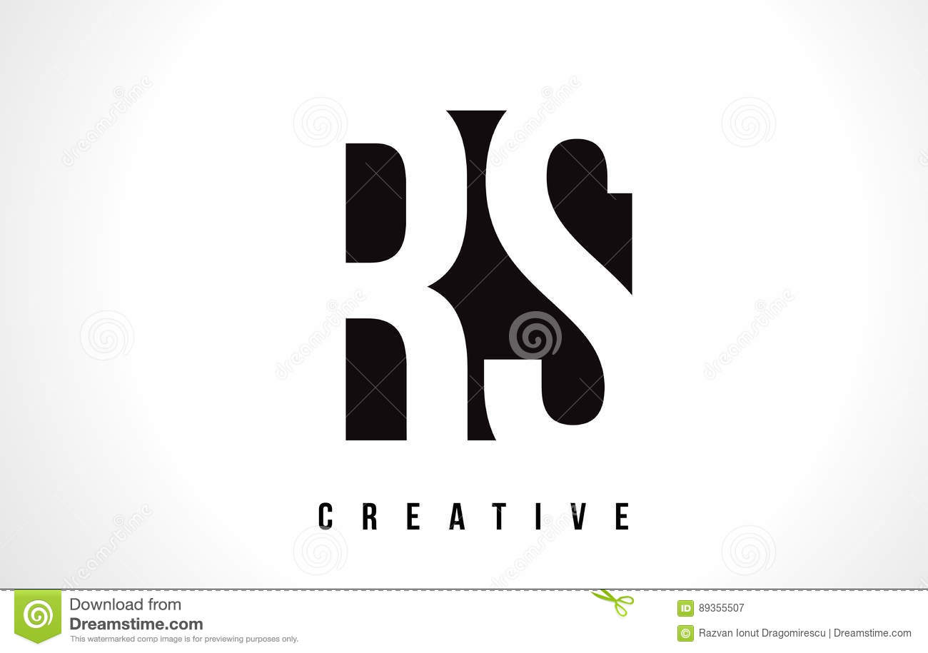 Rs r s white letter logo design with black square stock vector rs r s white letter logo design with black square buycottarizona Image collections