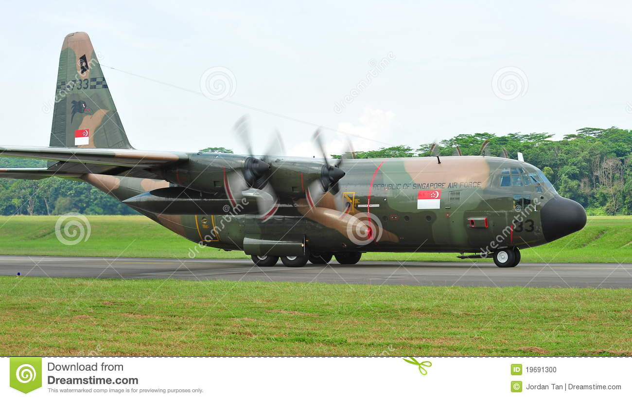 C 130 Military Transport Aircraft RSAF C-130 Military Tr...