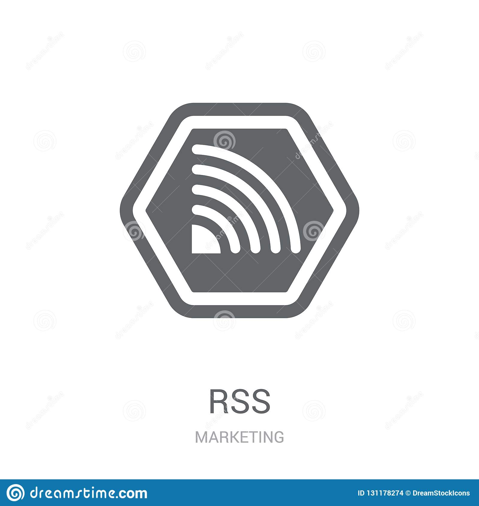 Rss icon. Trendy Rss logo concept on white background from Marketing collection
