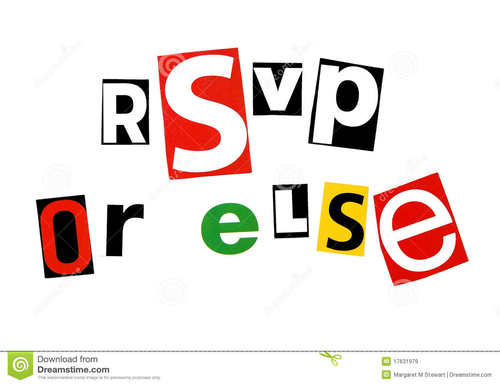 Rsvp Or Else Royalty Free Stock Images Image 17631979