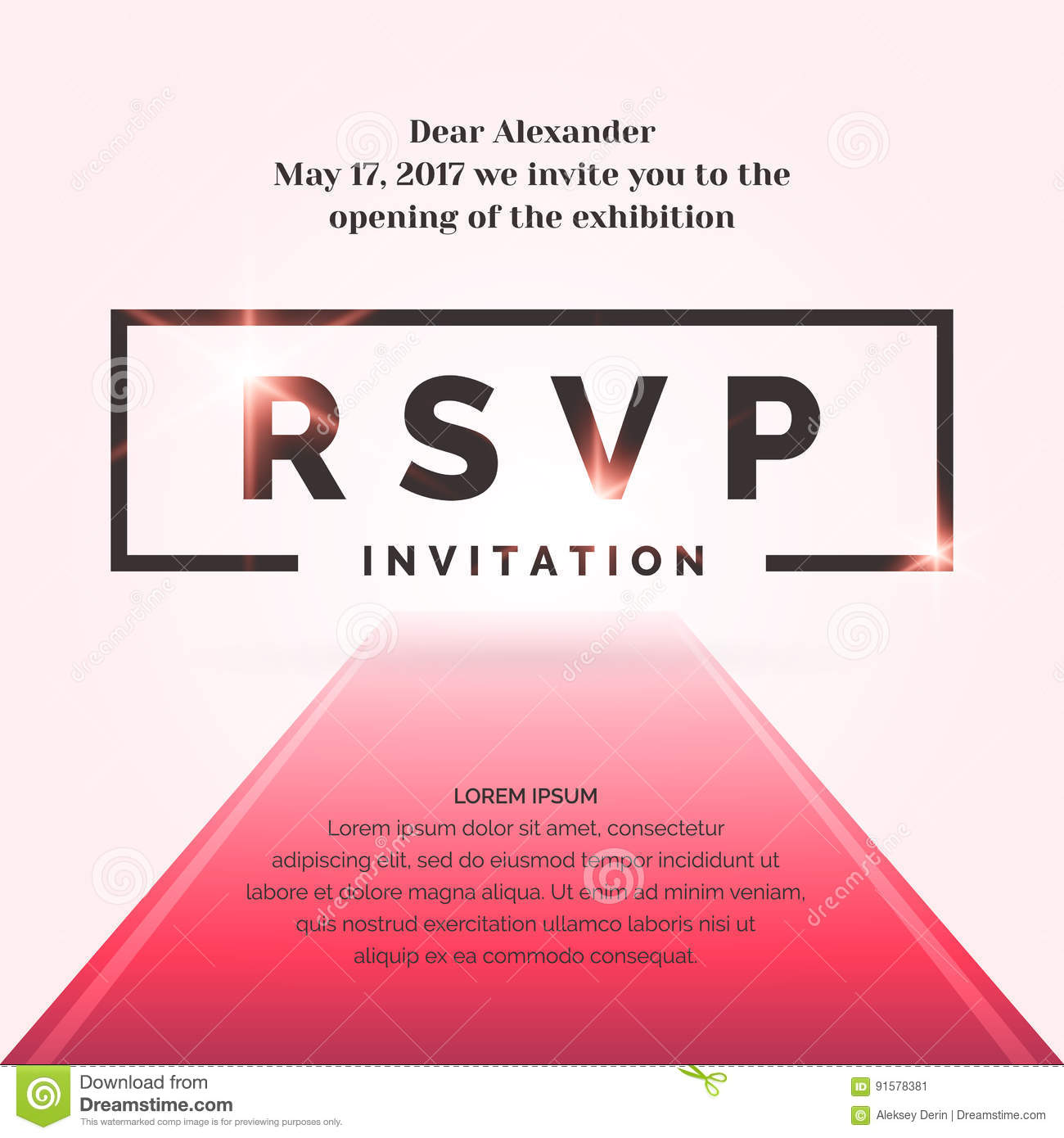 rsvp invitation template for the event stock vector illustration