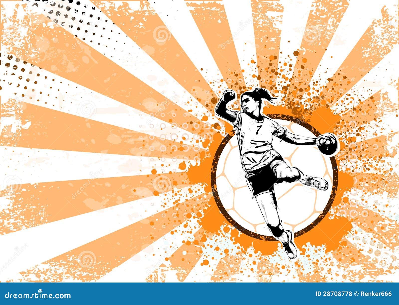 R tro fond d 39 affiche de handball photos libres de droits for Fond affiche gratuit