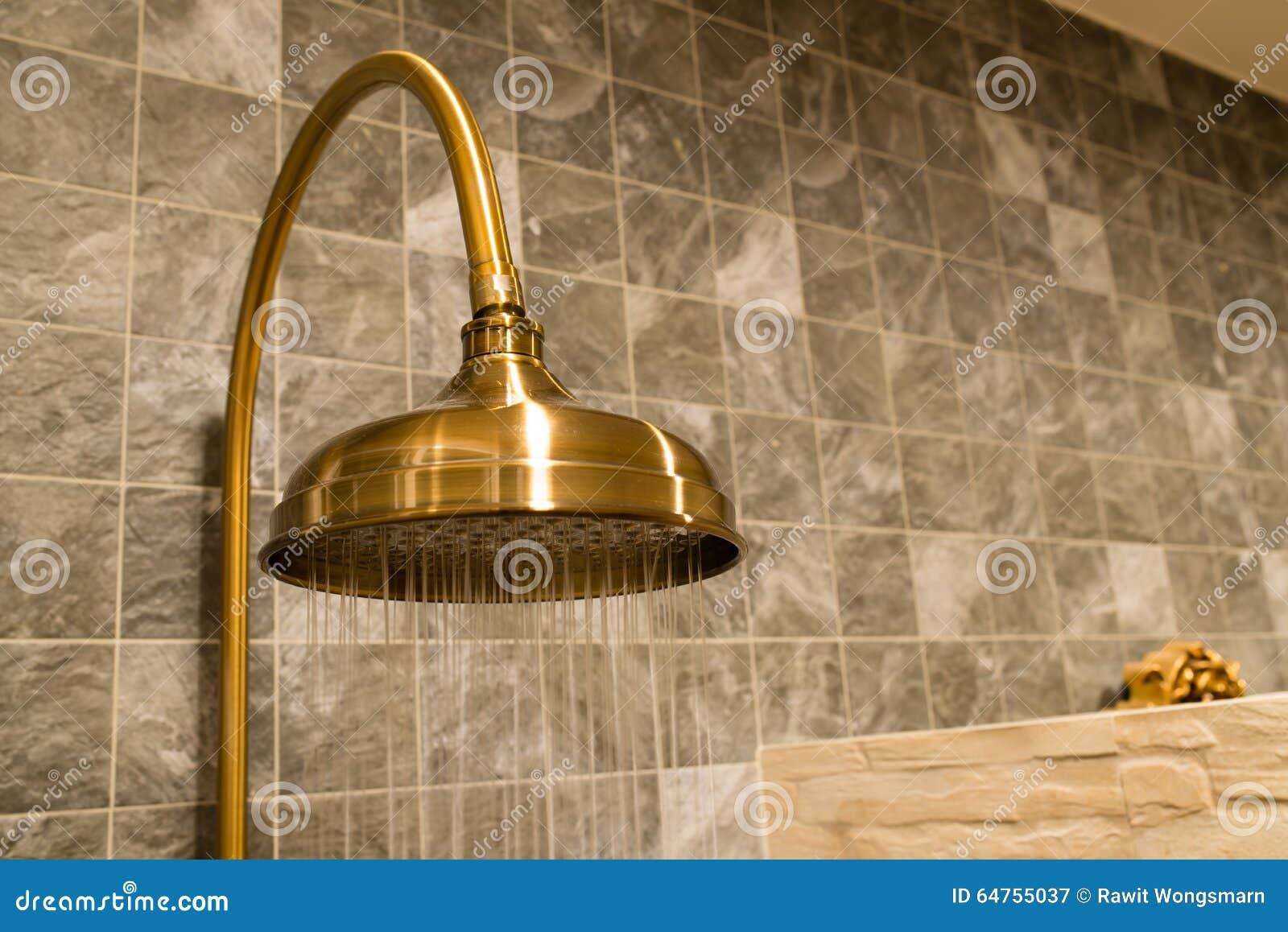 r tro pommeau de douche en laiton avec le mouvement de l. Black Bedroom Furniture Sets. Home Design Ideas