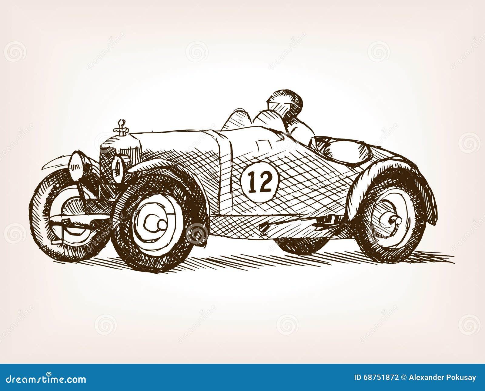 car sports tire vintage