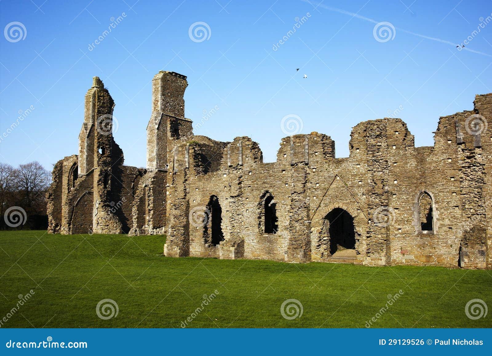 Ruínas antigas da abadia