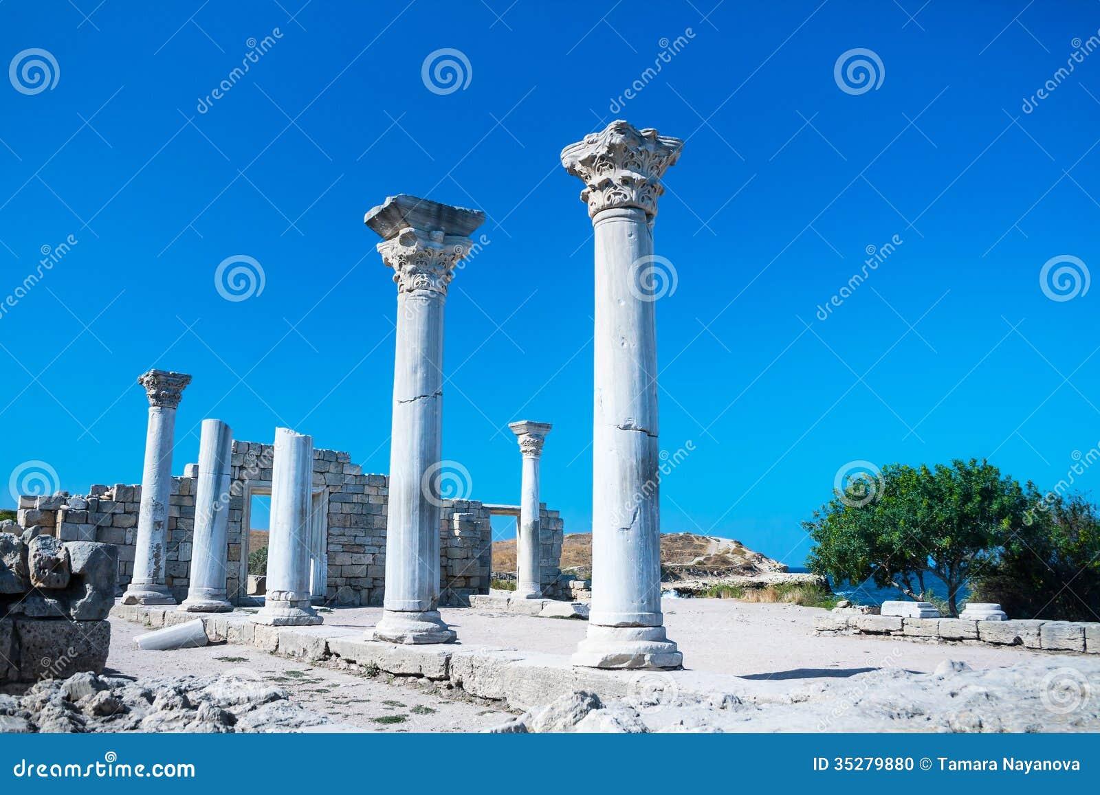 Ruínas antigas do Tauric Chersonese