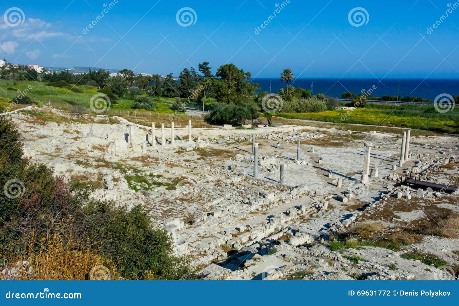 Ruínas antigas na área Amatus