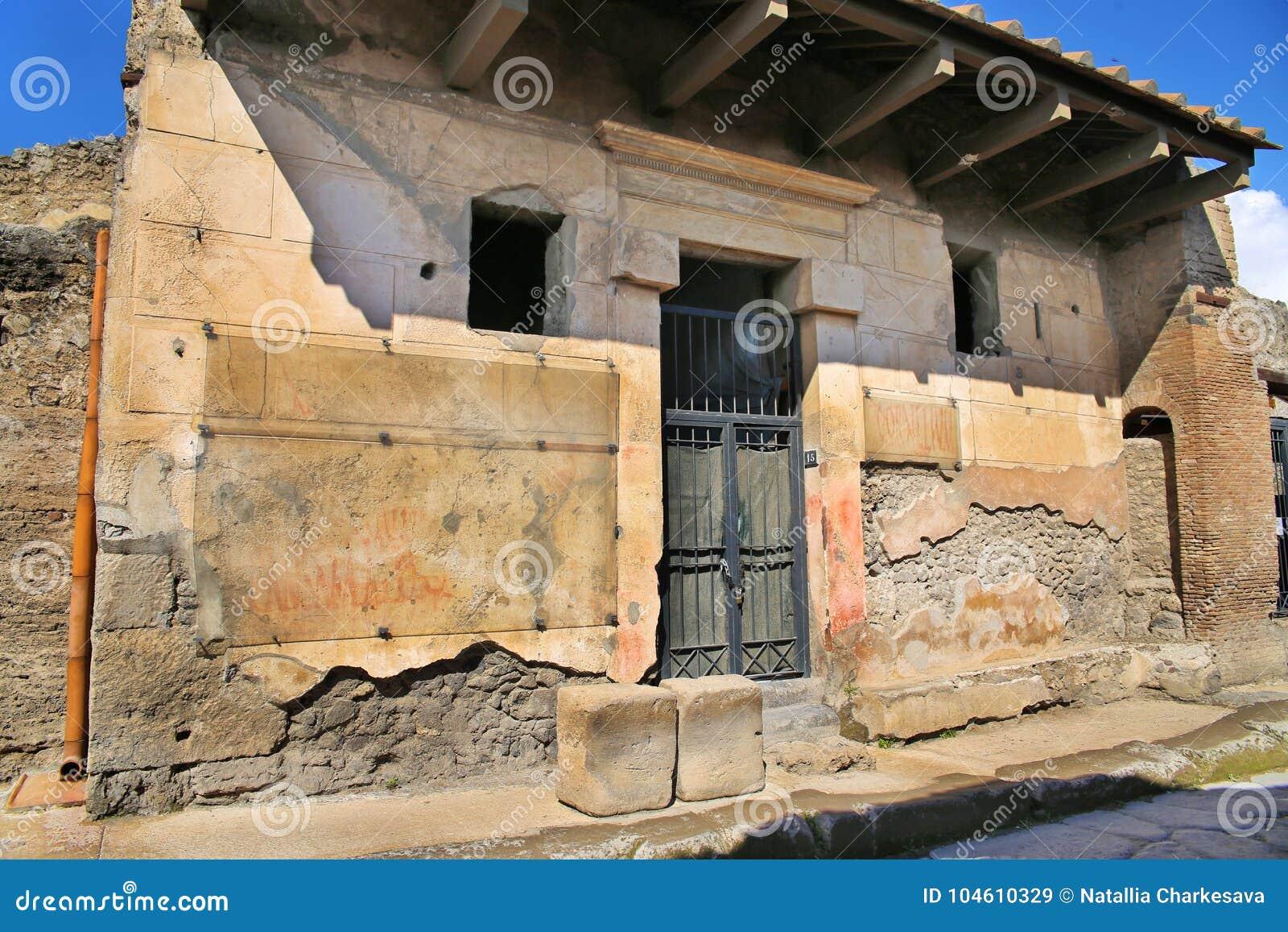 Ruínas da cidade antiga Pompeii